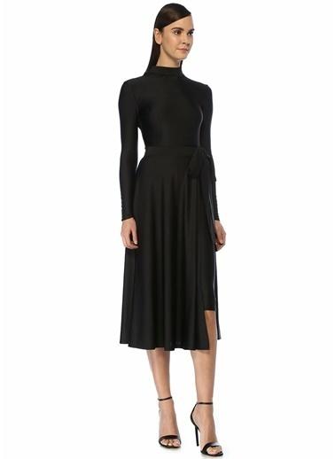 Beymen&Designer &Designer Rotate Birger Christensen Dik Yaka Etek Detaylı Midi Tulum Elbise 101443822 Siyah